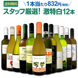 白ワインセット【送料無料】第89弾!超特大感謝!≪スタッフ厳選≫の激得白ワインセット12本!