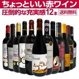 【送料無料】第20弾!当店オススメばかりを厳選したちょっといい赤ワイン12本セット!ワイン ワインセット セット 赤ワインセット 赤ワイン 赤 飲み比べ 送料無料 ギフト プレゼント 750ml フルボディ