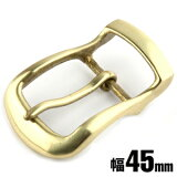 KC,s kcs ケーシーズ ケイシイズ バックル レザーベルト ギャリソンベルト 取替え 金具 銀 真鍮 ブラス メンズ パーツ: ブライドル バックル45mm【ゴールド】