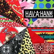 ハバハンク ハブアハンク バンダナ デザイン ハンカチ ヘアアクセ ストール アメリカ イラスト
