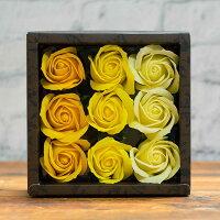 【お花の入浴剤】ケイコレクション バスフレグランスソープ ローズボックス ソープフラワー バラ