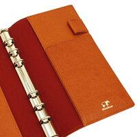 【Knox/ノックス】バイブルサイズ6穴カロス(KALOS)リング径13mm【オレンジ】システム手帳バインダー124-690-42【あす楽対応】02P08Feb15