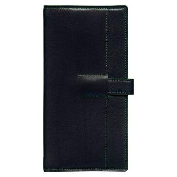 【Knox/ノックス】ナローサイズシステム手帳 ユナイト(リング径11mm)【ネイビー×グリーン】 122-500-61 【あす楽対応】