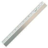 【ミドリ/デザインフィル】アルミ定規15cm【シルバー】42255-006