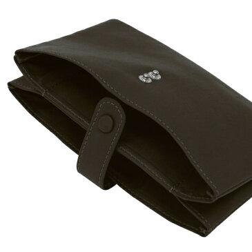 【スリップオン】Noir/ノワール 通帳ケース 本革製 2ポケット【ブラック】 NSL-3201 BK 【あす楽対応】