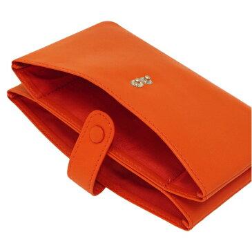【スリップオン】Noir/ノワール 通帳ケース 本革製 2ポケット【オレンジ】 NSL-3201 OR 【あす楽対応】