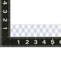 【マークス】水性ペンで書けるマスキングテープ/小巻/マステ15mm×10m【チェックブルー】MST-FA12-E【あす楽対応】