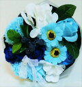 ソープフラワー ソープミックスブーケLサイズ ブルー石鹸の花