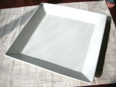 洋食器白い食器・白マットスクエア24cmプレート