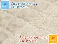 【送料無料】【天然素材・丸洗いOK!】麻&コットンリバーシブルパッドクールウォーム