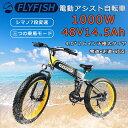 1000W 26インチ 電動自転車xマウンテンバイク ファッ...