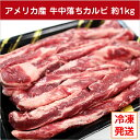 【アメリカ産】牛中落ちカルビ約1kg 冷凍発送/リブフィンガー/ブロック/BBQ/焼き肉/サイコロステーキ/カレー/大特価/人気/