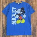 JUNK FOOD ジャンクフード Mickey Mouse ミッキーマウス 丸胴 Tシャツ メンズ ブルー