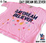 JUNKFOODジャンクフード/DAYDREAMBELIEVER/キッズゆったりTシャツ6〜7歳