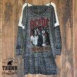 TRUNK LTD トランク : AC/DC :レディース ロングTシャツ 送料無料
