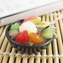 食品サンプル屋さんのストラップ フルーツみつ豆
