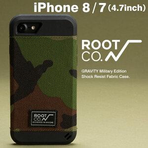 [iPhone7専用]ROOTCO.GRAVITYMilitaryEditionShockResistFabricCase.foriPhone7(ウッドランドカモ)