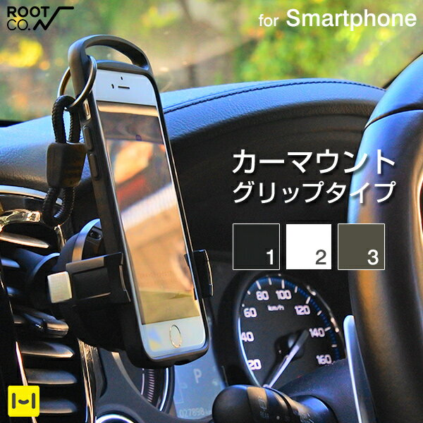 スマホ・タブレット・携帯電話用品, 車載用ホルダー・スタンド ROOT CO. PLAY Grip. Smart Car Mount. iphone iphone7 iphone8 iphoneX galaxy Xperia
