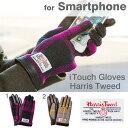 iTouch Gloves ハリスツイード 手袋 スマートフォン対応 レザー Sサイズ 【 スマホ手袋 レディース iphone スマホ 手袋 本革 】