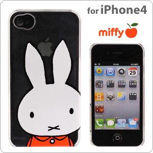 iPhone4専用キャラクターシェルカバー(ミッフィー/クリア透明)【Miffy/ミッフィー】【キャラ...