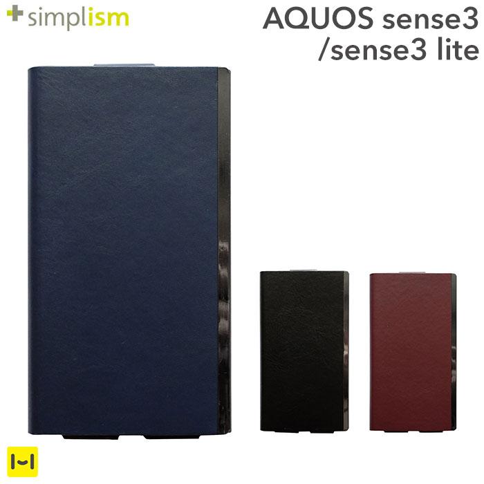 スマートフォン・携帯電話用アクセサリー, ケース・カバー  3 AQUOS sense3 AQUOS sense3 lite simplism FlipNote Light Hamee