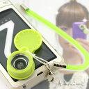 ケンコー カメラ付き携帯電話用おもしろレンズ携帯ストラップ(ひろーく撮れる/グリーン)MPL...