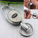【キーホルダー】ZIPPO LEDライト付リールワイヤースナップリング(Light Silver)
