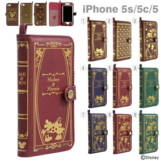 IPhone5s iPhone5c iPhone5 사례 디즈니 Old Book Case