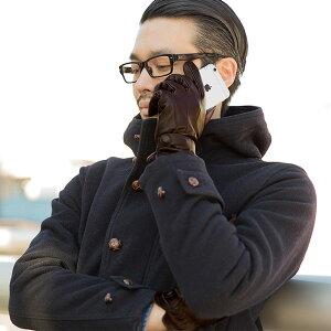 シープスキン本革スマホ手袋メンズ【スマホ手袋スマホ手袋羊革本革レザー手袋スマホ対応タッチパネル本革手袋】【スマートフォンタッチグローブ】【RCP】【楽ギフ_包装】