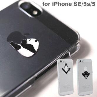 IPhone5s iPhone5 사례 Applus 하드 클리어 (블랙 2) (대) fs3gm