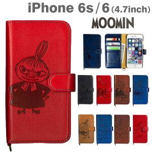 【送料無料】落ち着いた iphone 手帳型 大人 レザーケース が かわいい ♪ ムーミン iPhone6 ケ...