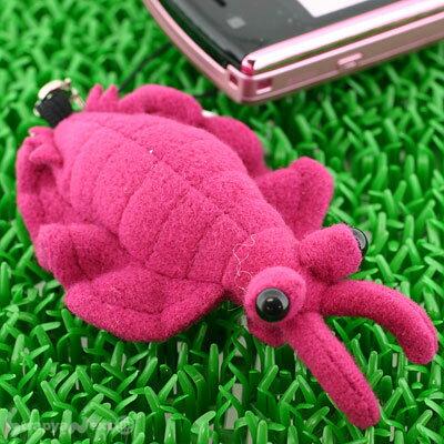 カンブリア紀の海中生物、その名も「アノマロカリス」携帯ストラップ(パープル)5641B【バッグ...