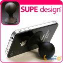 [iPhoneやiPadに対応!] 携帯スタンドSUPE/シュープ ● サークル (パイレーツ/黒)【iPhone便利...