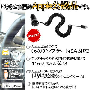 [appleLightningコネクター専用]アップル認証公式PowerJoltSELightningDCケーブル