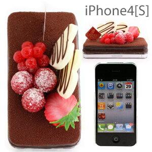 [予約][iPhone 4専用★食品サンプルケーキカバー(チョコケーキ)【アイフォン/iPhone 4/iPhone...