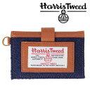 invite.L Harris Tweeds NAME CARD POCKET ハリスツイード カードポケット(NAVY BLUE/ネイビーブルー)【RCP】