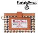 invite.L Harris Tweeds NAME CARD POCKET ハリスツイード カードポケット(BROWN HOUNDSTOOTH/ブラウン)【RCP】