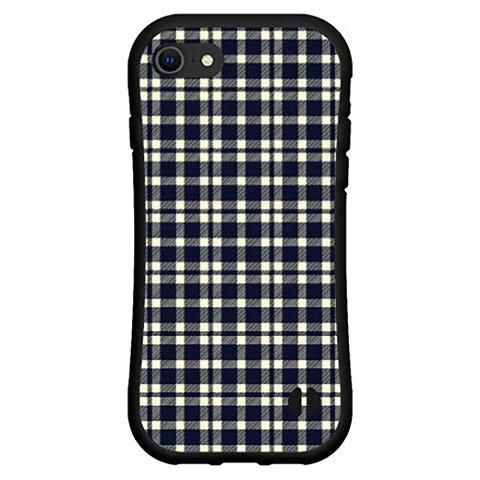 液晶保護フィルム付 iPhone 8アイフォン エイトdocomo au SoftBank落としても割れにくい驚きの衝撃吸収力豊富なオリジナルデザイン耐衝撃 ハイブリッドケースPlaid(チェック柄) type001