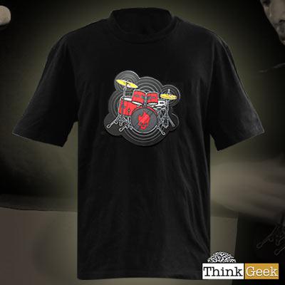 【在庫あり!】ネットで話題騒然!Thinkgeek社発明の電子ドラムTシャツ-ElectronicDrumKitShirt-