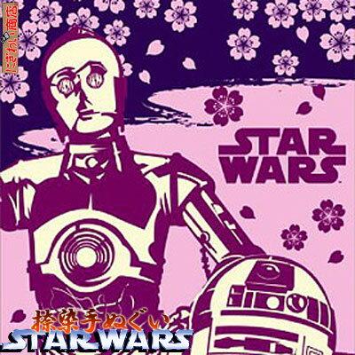 【在庫アリ!】【STARWARS☆スターウォーズ】日本製・捺染てぬぐい(富士を背に途につくR2とC3PO)SW-TOWEL-13【StarWars】【手ぬぐい・手拭い】