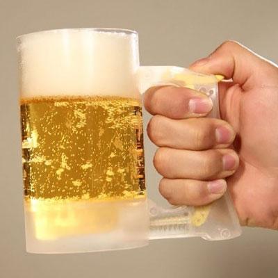 【販売終了】『うぉぉぉ!不思議』『俺にもさせろ!』何度でも泡立つ!入れたてのビールの様な泡がいつでも楽しめる★ジョッキアワーイエロー【ビアマグ】【誕生日プレゼント】【RCP】