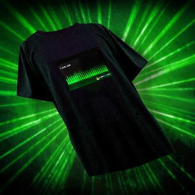 〔在庫アリ!〕光るTシャツTコライザー2009-2010バージョン【テクノグリーン】T-Qualizer★TQTechnoGreen