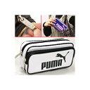 【PUMA】(プーマ)エナメルダブルケース(ホワイト/ブラック)415PMWH