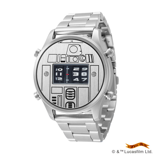 STAR WARS Roller watch by FUTURE FUNK metal band model(R2-D2)