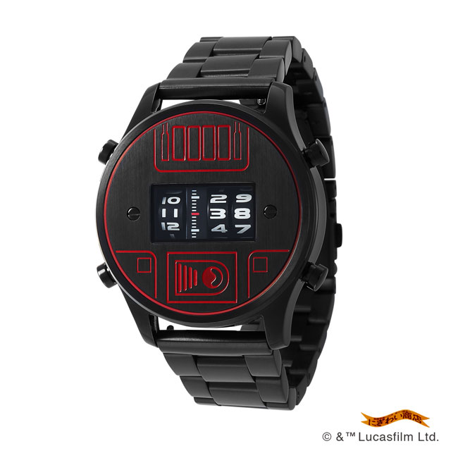 STAR WARS Roller watch by FUTURE FUNK metal band model(DV) *Darth Vader(ダースベイダー)