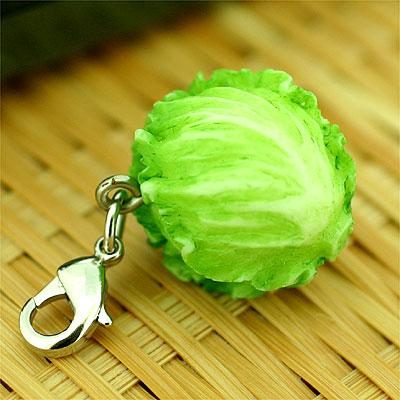 Vegetable miniature mascot (lettuce)