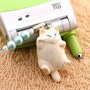 【携帯ストラップ】【送料380円】[購入から1〜2週間で入荷] でぶ猫ビーズ携帯ストラップ白(06) 【 誕生日 プレゼントに】【RCP】