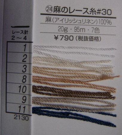 ダルマ毛糸麻のレース糸