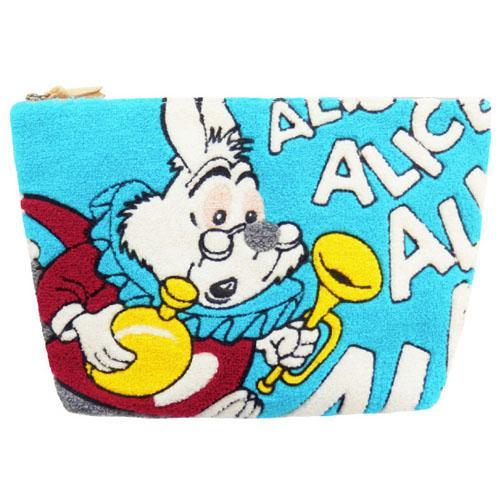 ディズニー  さがら刺繍ポーチ シロウサギ アイスブルー  581-009