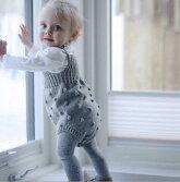 ベビーロンパース重ね着風オールインワンニット簡単春秋ベビーオールインワンベビー服子供服女の子長袖可愛いシンプル